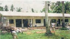 「セブの少女たちに布地を送る会」が建設をした学校
