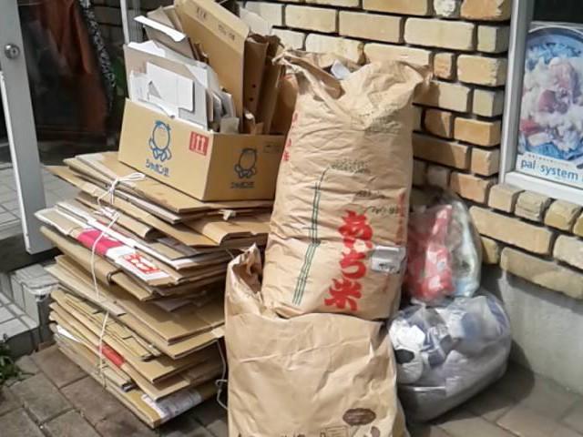 資源回収で被災地支援