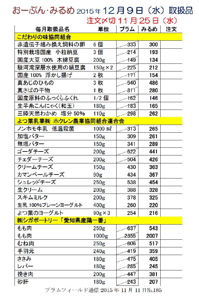 1おーぷんみるめ12月9日注文表