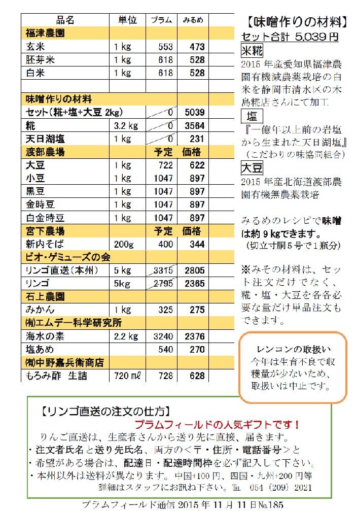 おーぷんみるめ12月9日の注文表2