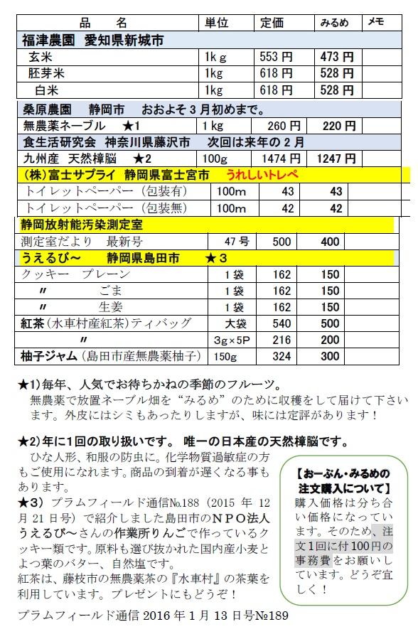 プラム通信2月10日分注文表2