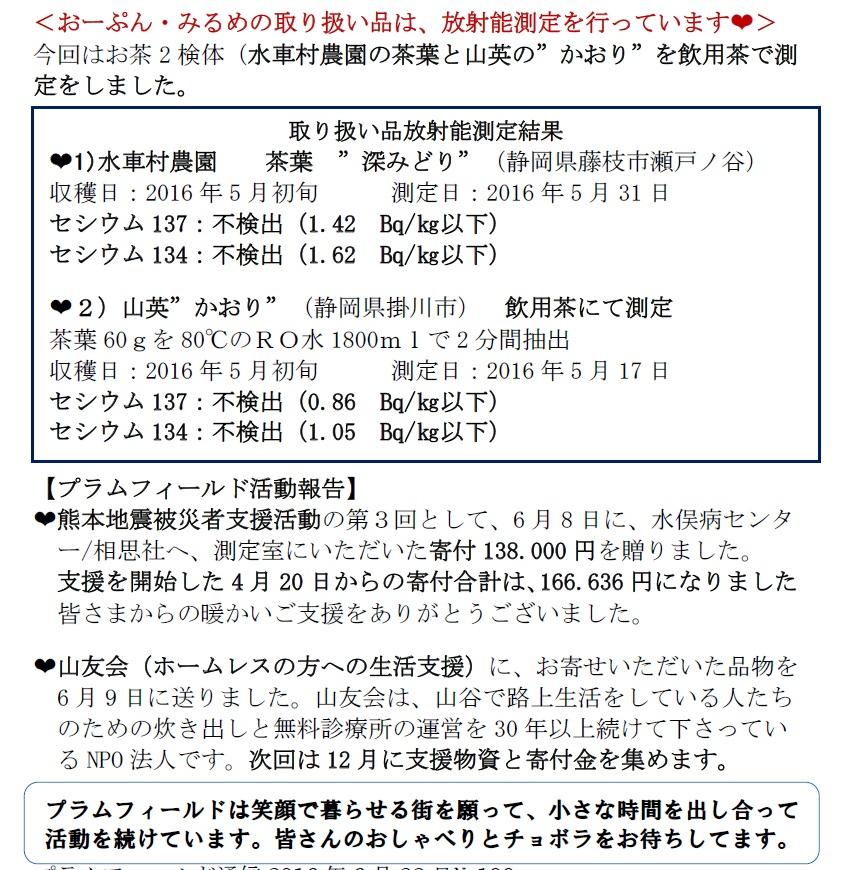 プラム通信0622活動報告
