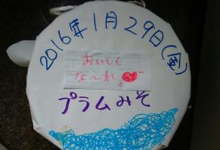 プラムの味噌