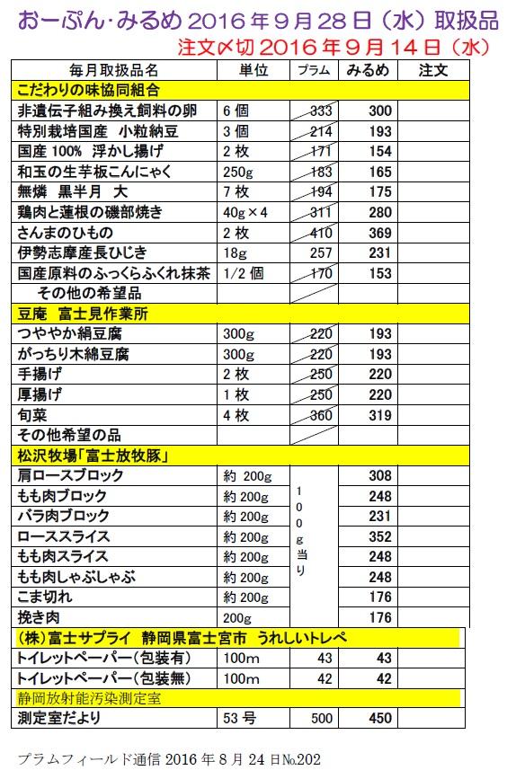 おーぷん・みるめ20160928注文表1