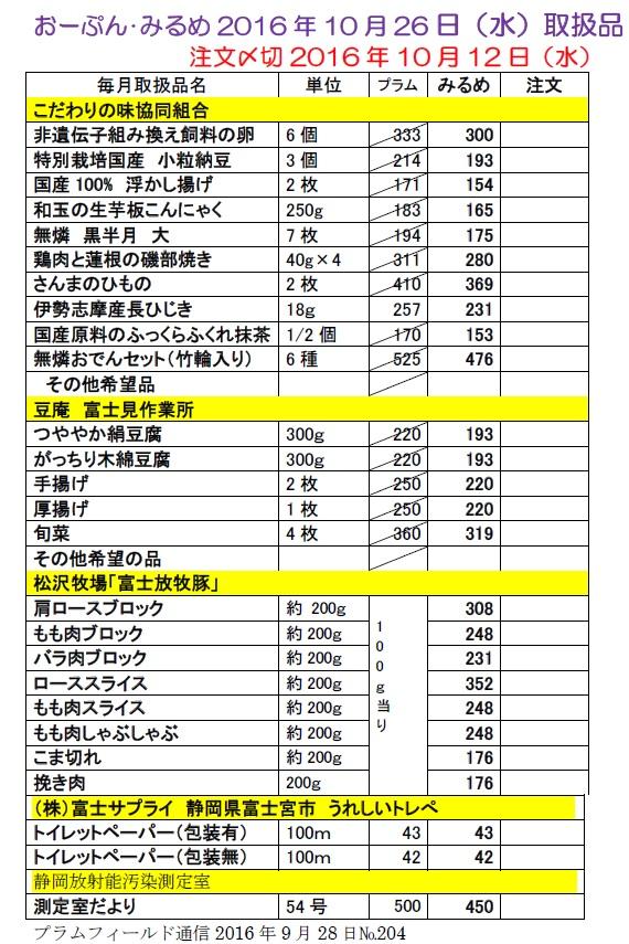 おーぷん・みるめ10月26日の注文表1