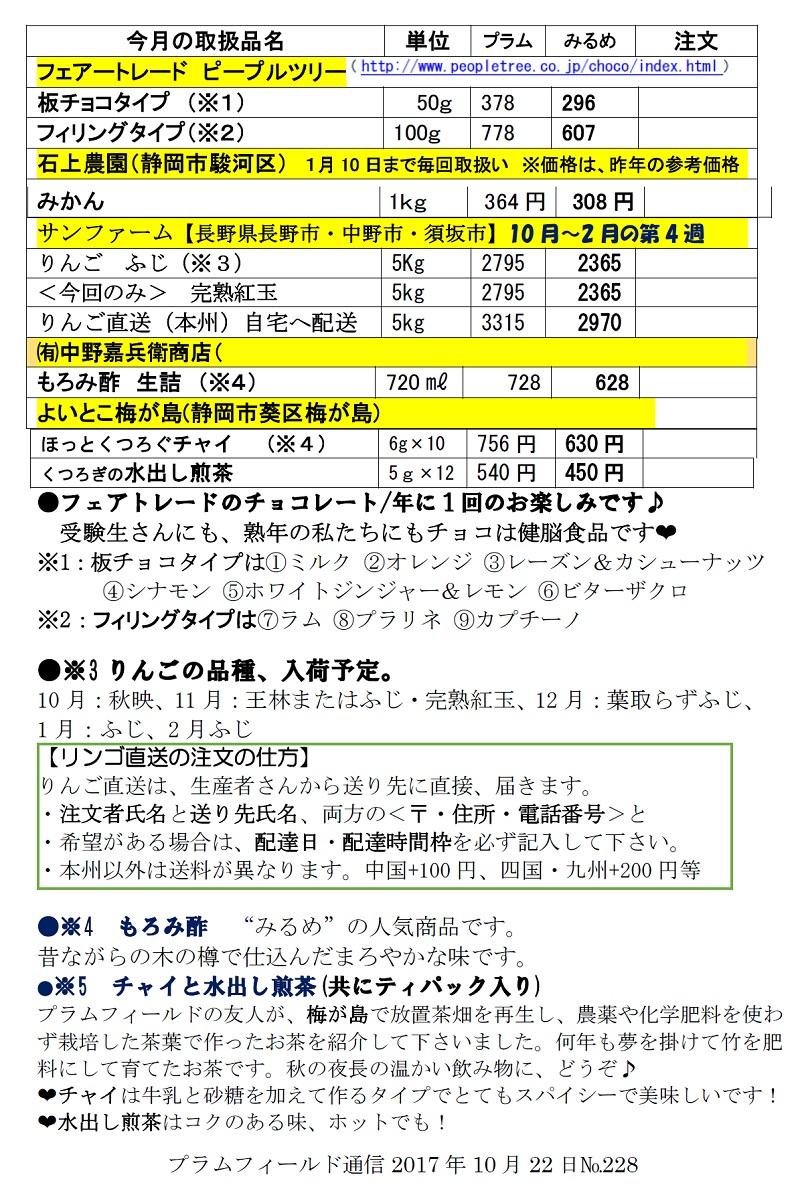おーぷん・みるめ11月22日注文表2