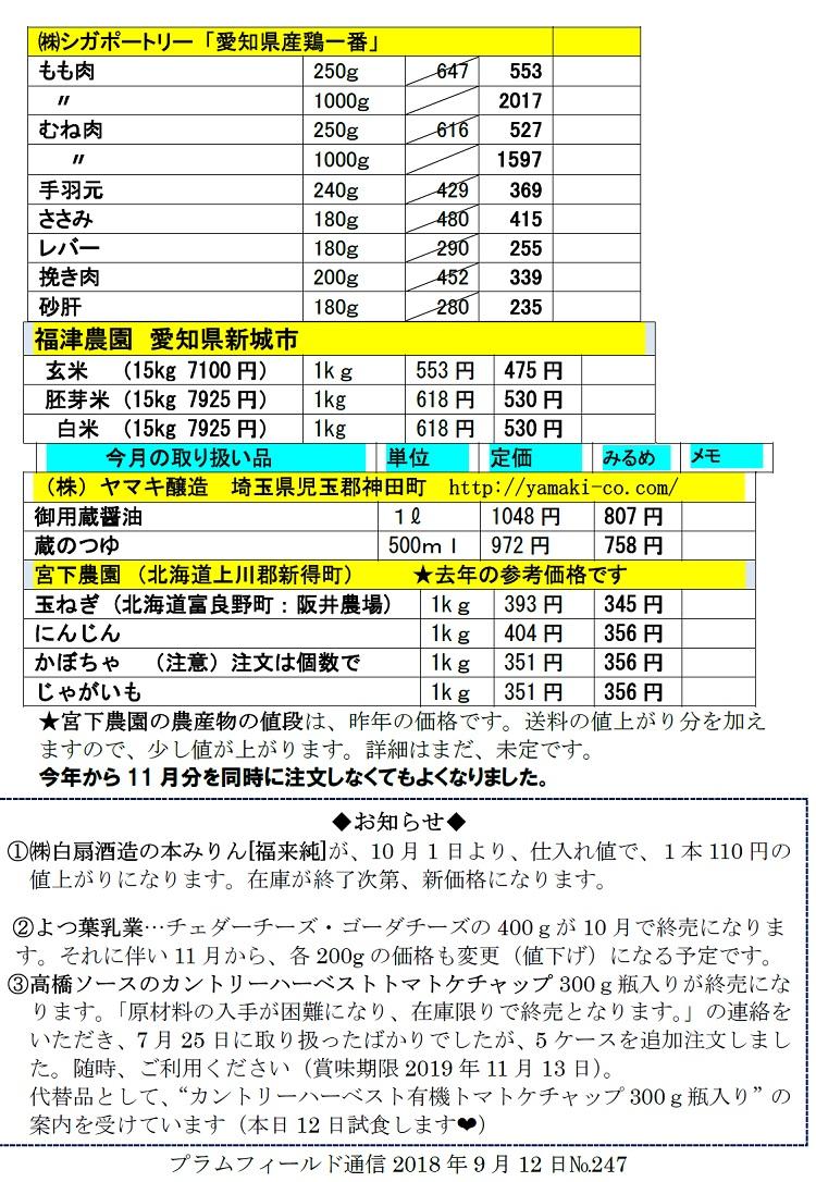 プラム通信2018年9月12日№247注文表2