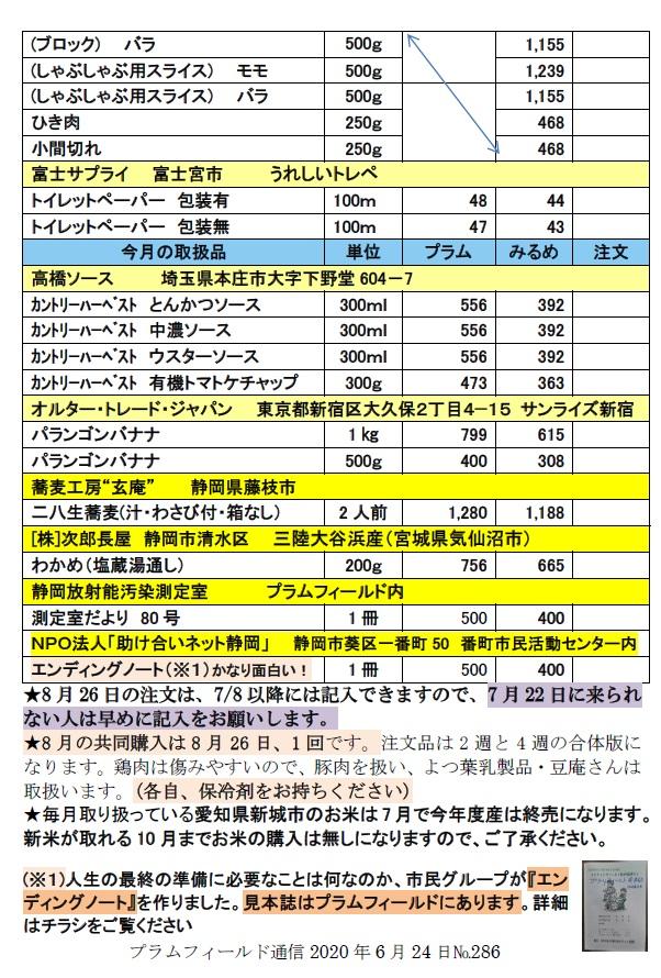 通信7月22日の注文表2