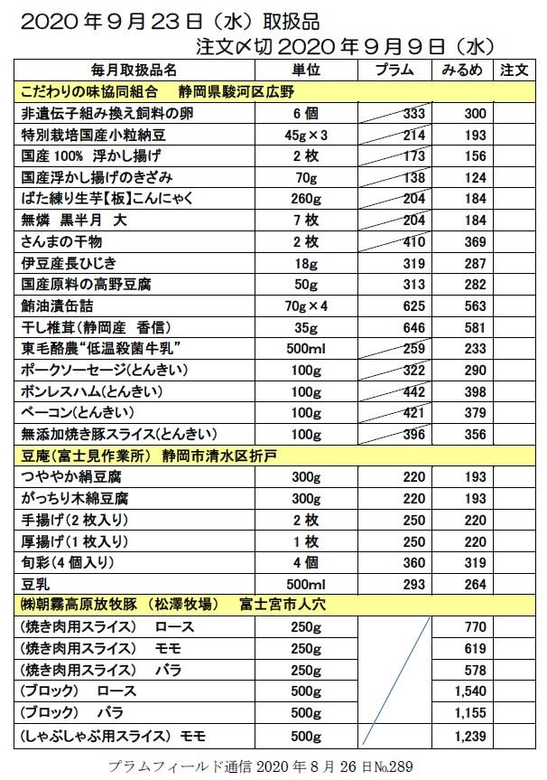 """""""おーぷん・みるめ""""の注文表1"""